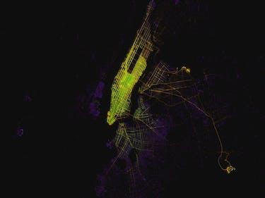 Reddit's Map of the Uber Versus Taxi War in NYC is Lit