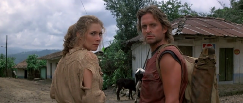 Kathleen Turner and Michael Douglas in 'Romancing the Stone' (1984)