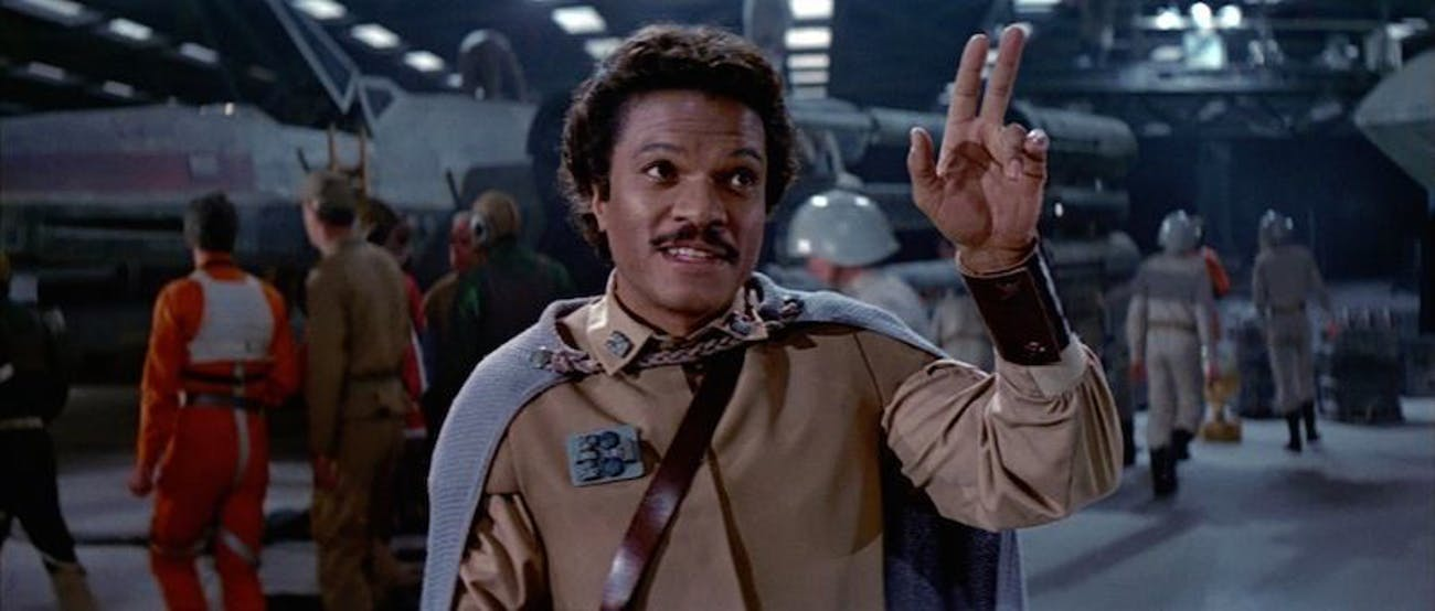 Lando Calrissian in 'Return of the Jedi'