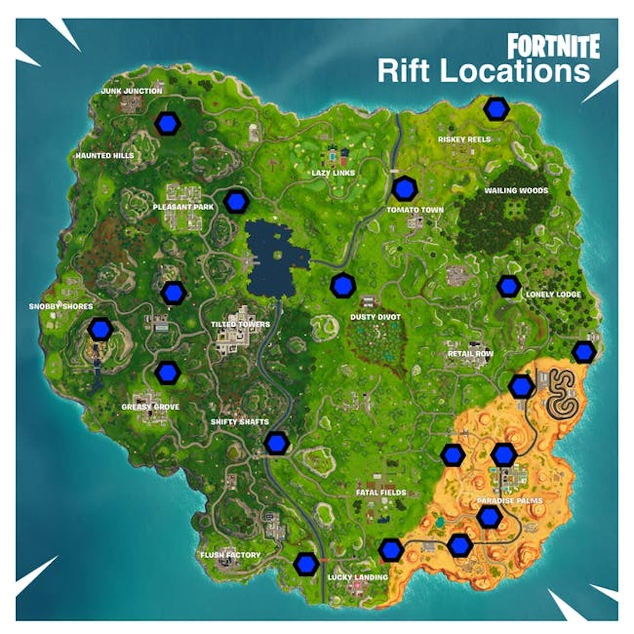'Fortnite' Rift Map