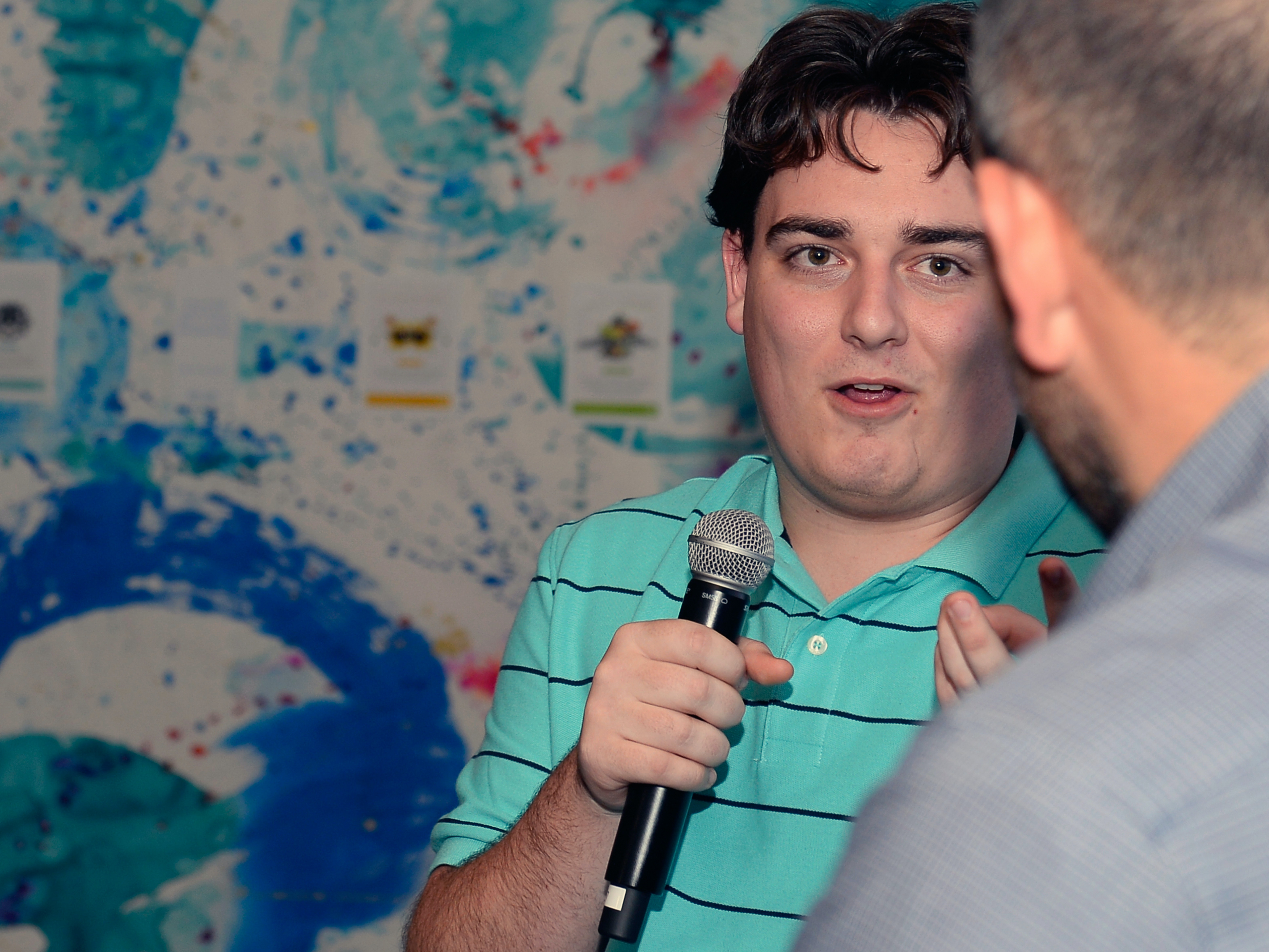 LAS VEGAS, NV - JANUARY 07:  Oculus Founder Palmer Luckey speaks during an intimate Dell dinner at Yardbird at The Venetian Las Vegas on January 7, 2016 in Las Vegas, Nevada. Virtual reality is the top trending topic during CES 2016, Luckey discussed Oculus's role in the emerging VR market and partnership with Alienware.  (Photo by Bryan Steffy/Getty Images for Dell)