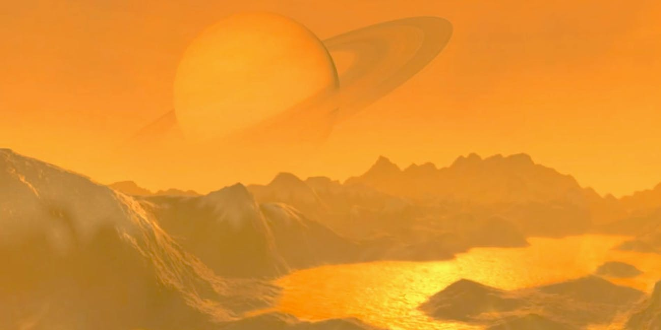 An artist's rendering of the surface of Titan.