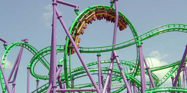 Image result for roller coaster upside down stuck