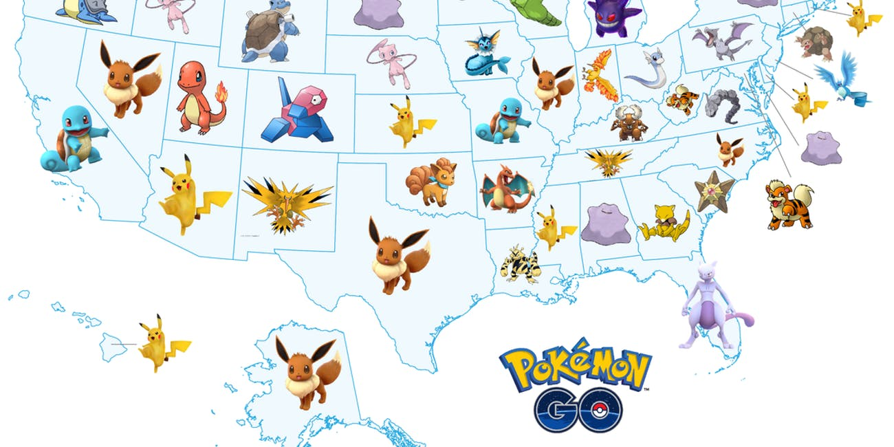 See every us states most wanted pokemon in pokemon go inverse which pocket monster is your state most desperate to catch thecheapjerseys Image collections