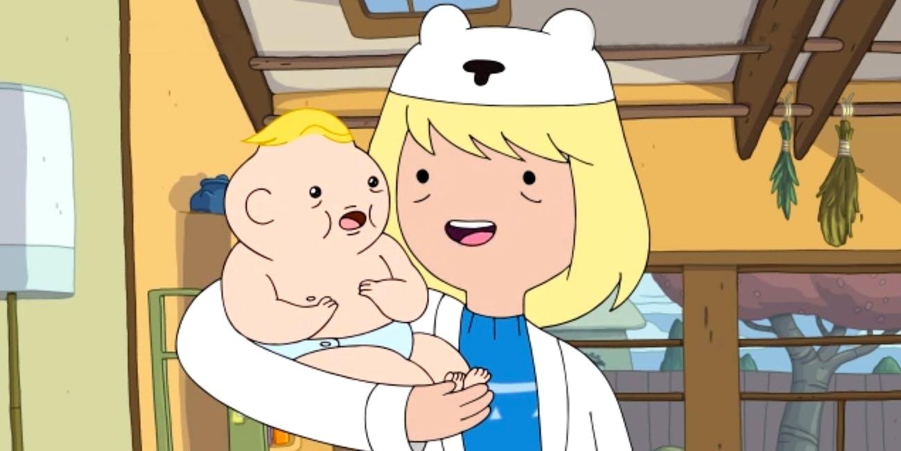 Finn's mom, Minerva, on 'Adventure Time.'