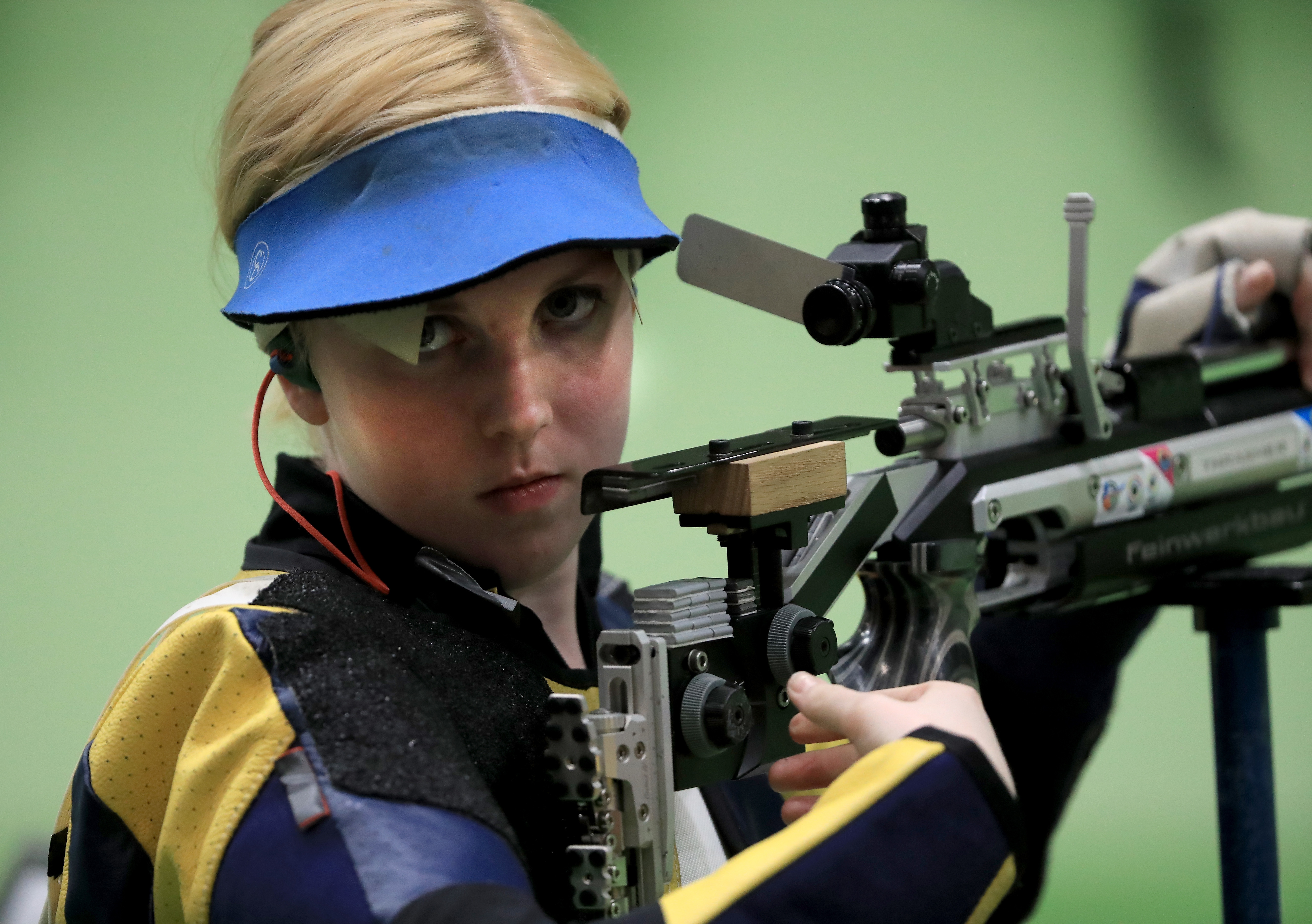 Team USA sharpshooter and Olympic first-timer Virginia Thrasher won a gold medal in the 10m Women's Air Rifle competition.