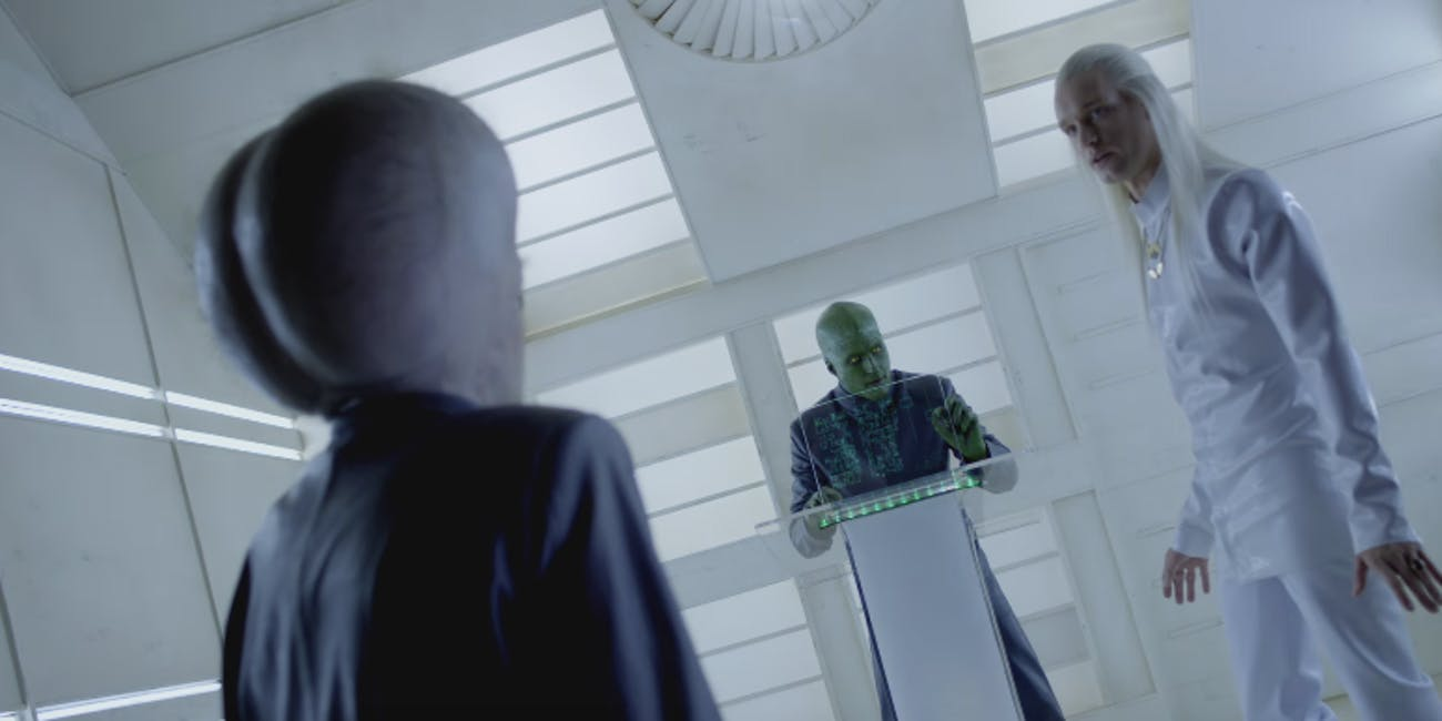 Three aliens in 'People of Earth'