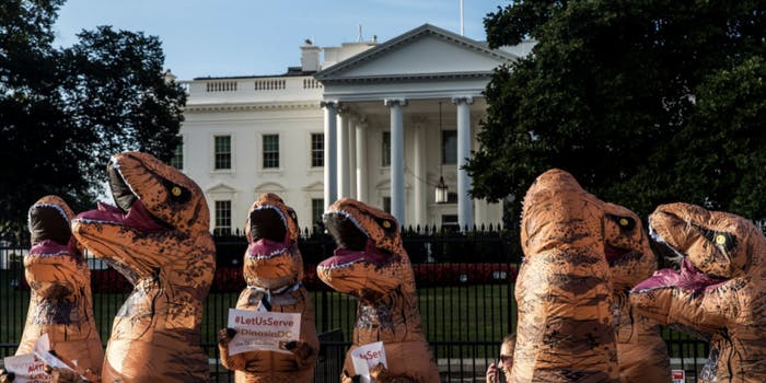 peace corps americorps dinosaurs trump white house