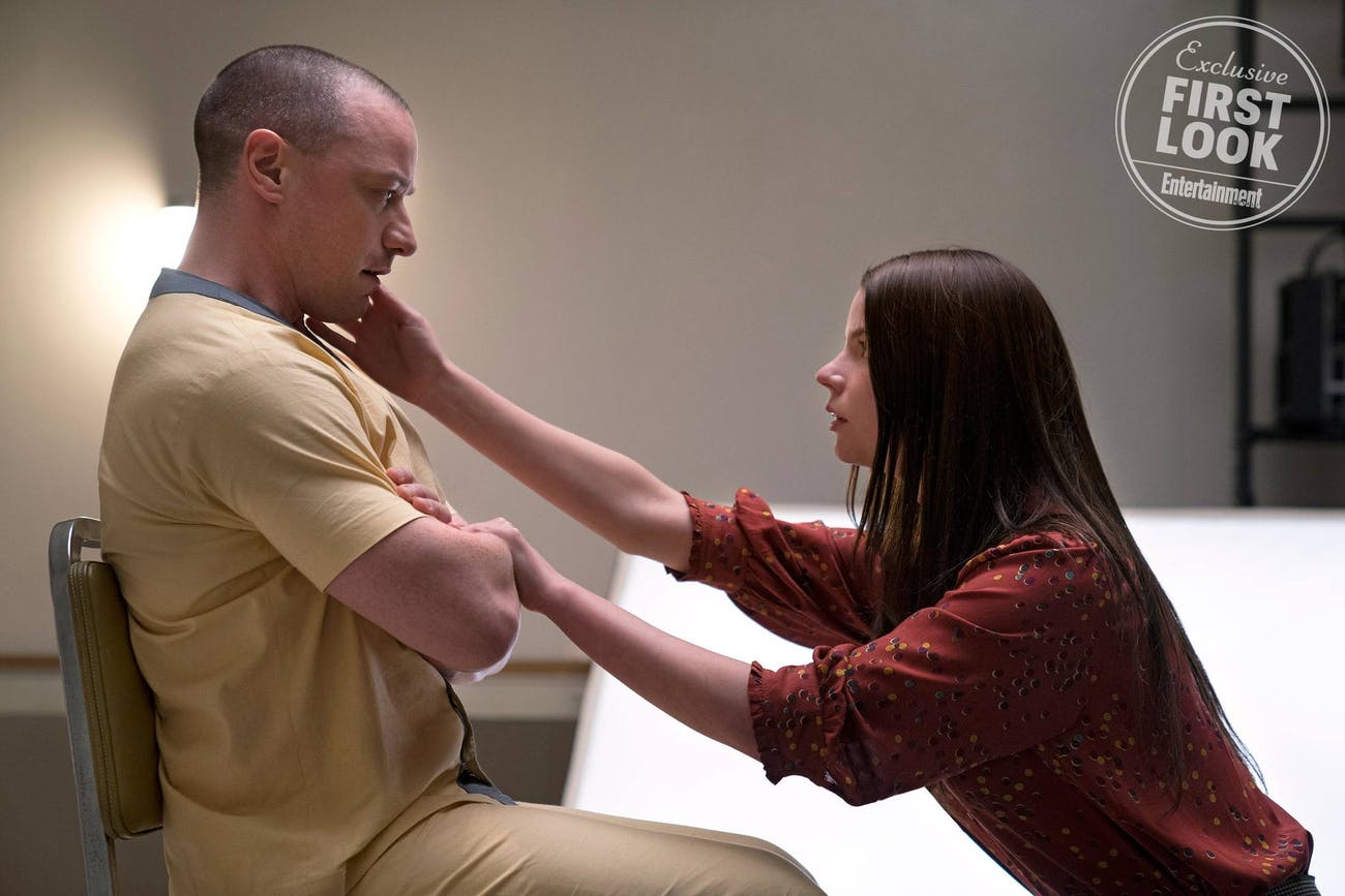 James McAvoy and Anya Taylor-Joy in 'Glass'.