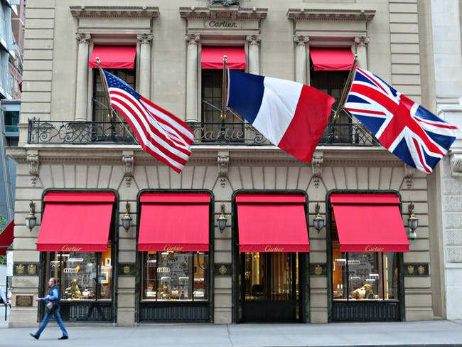 Cartier, 653 Fifth Avenue, New York City.