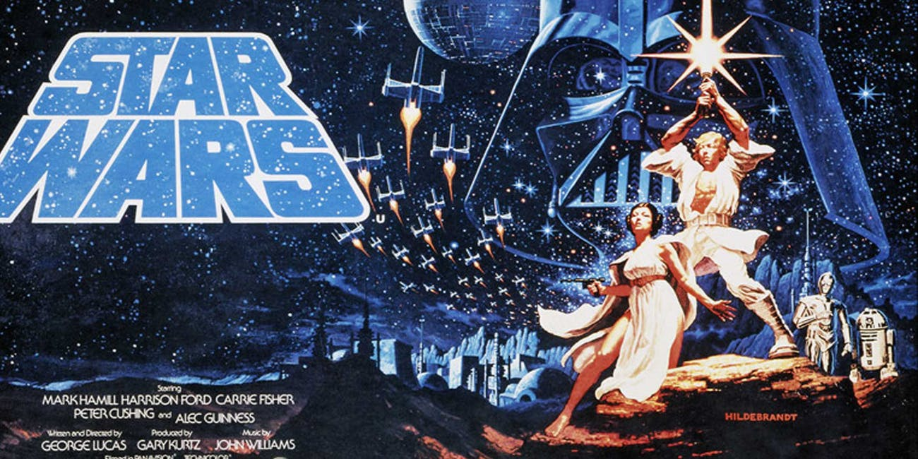 Classic poster for 'Star Wars' in 1977.