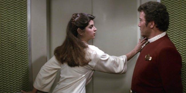 Kirstie Alley and William Shatner in 'Star Trek II: The Wrath of Khan'