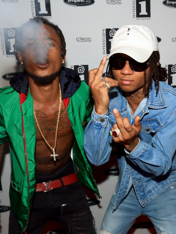 LOS ANGELES, CA - JUNE 25:  Hip-hop artists Rae Sremmurd attend the Interscope BET Party at The Reserve on June 25, 2016 in Los Angeles, California.  (Photo by Christopher Polk/Getty Images for Interscope Records )