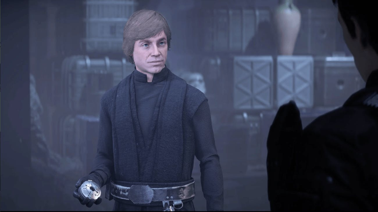 A few months after 'Return of the Jedi', Luke finds the Emperor's hidden vault of treasures and takes this compass.