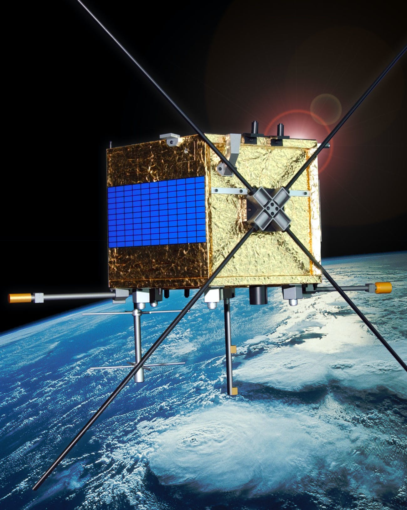 Canada's Cassiope satellite carries e-POP, which consists of eight instruments to provide information on Earth's ionosphere, thermosphere and magnetosphere for a better understanding of space weather.