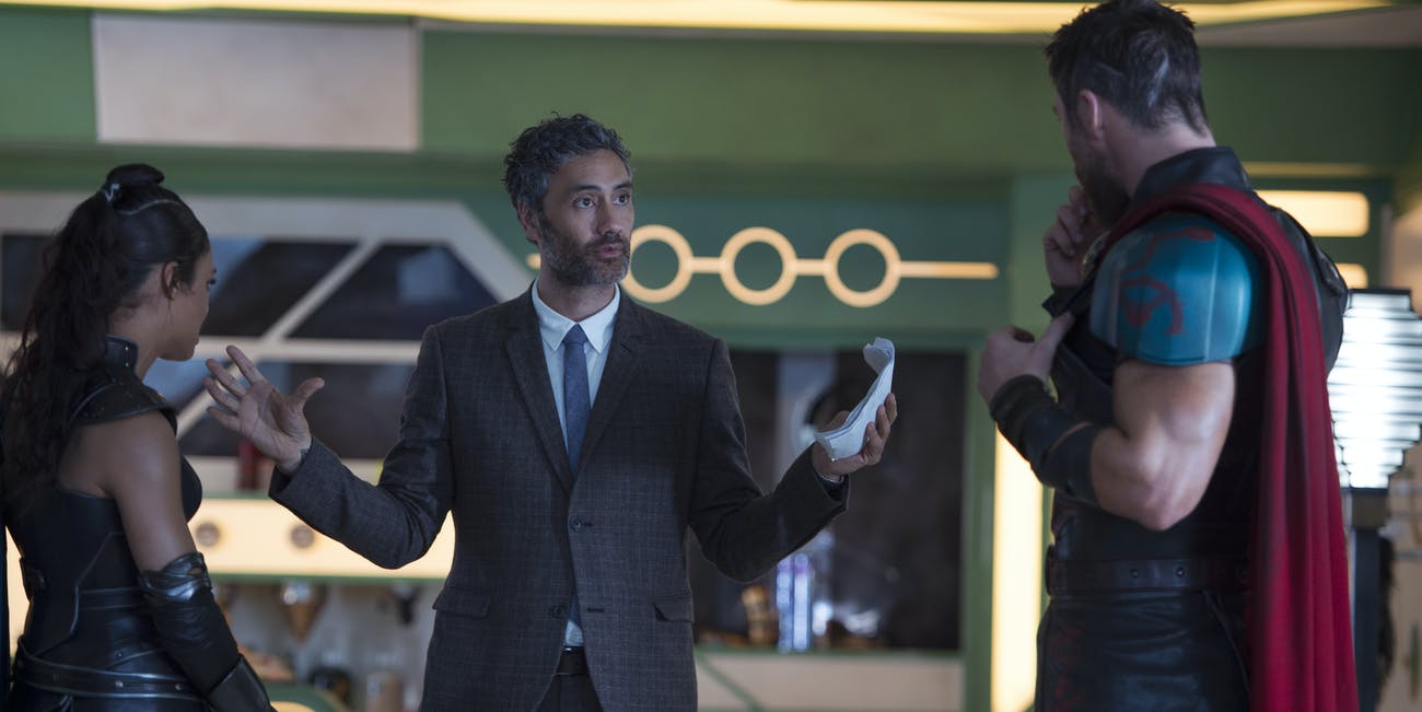 Taika Waititi dresses very well when he's working.