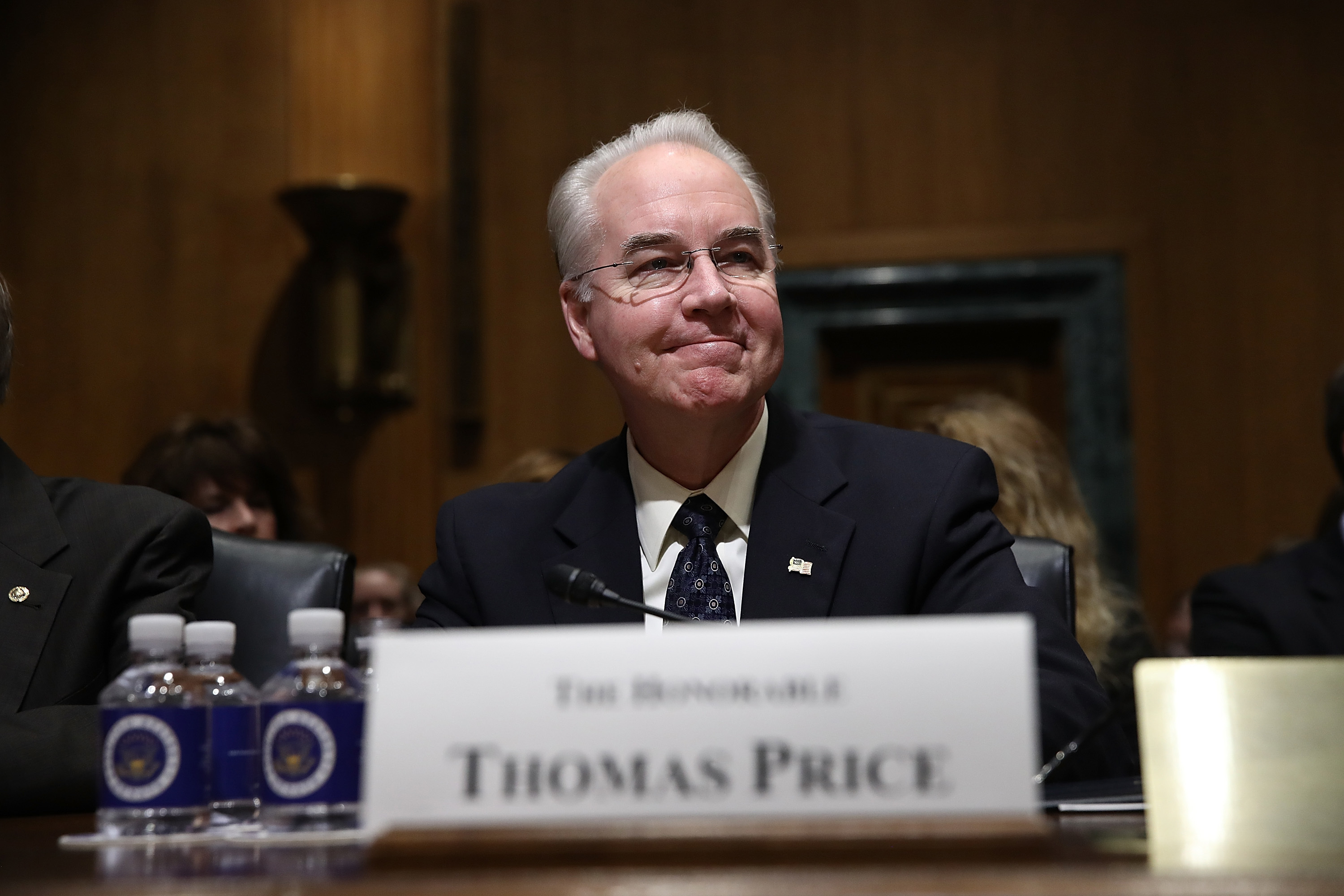 "Trump's Health and Human Services secretary Tom Price. When asked at his confirmation hearing if vaccines caused autism, he said ""I think the science in that instance is that they don't, but there are individuals in our country who are very..."" He was cut off before he could insert doubt."