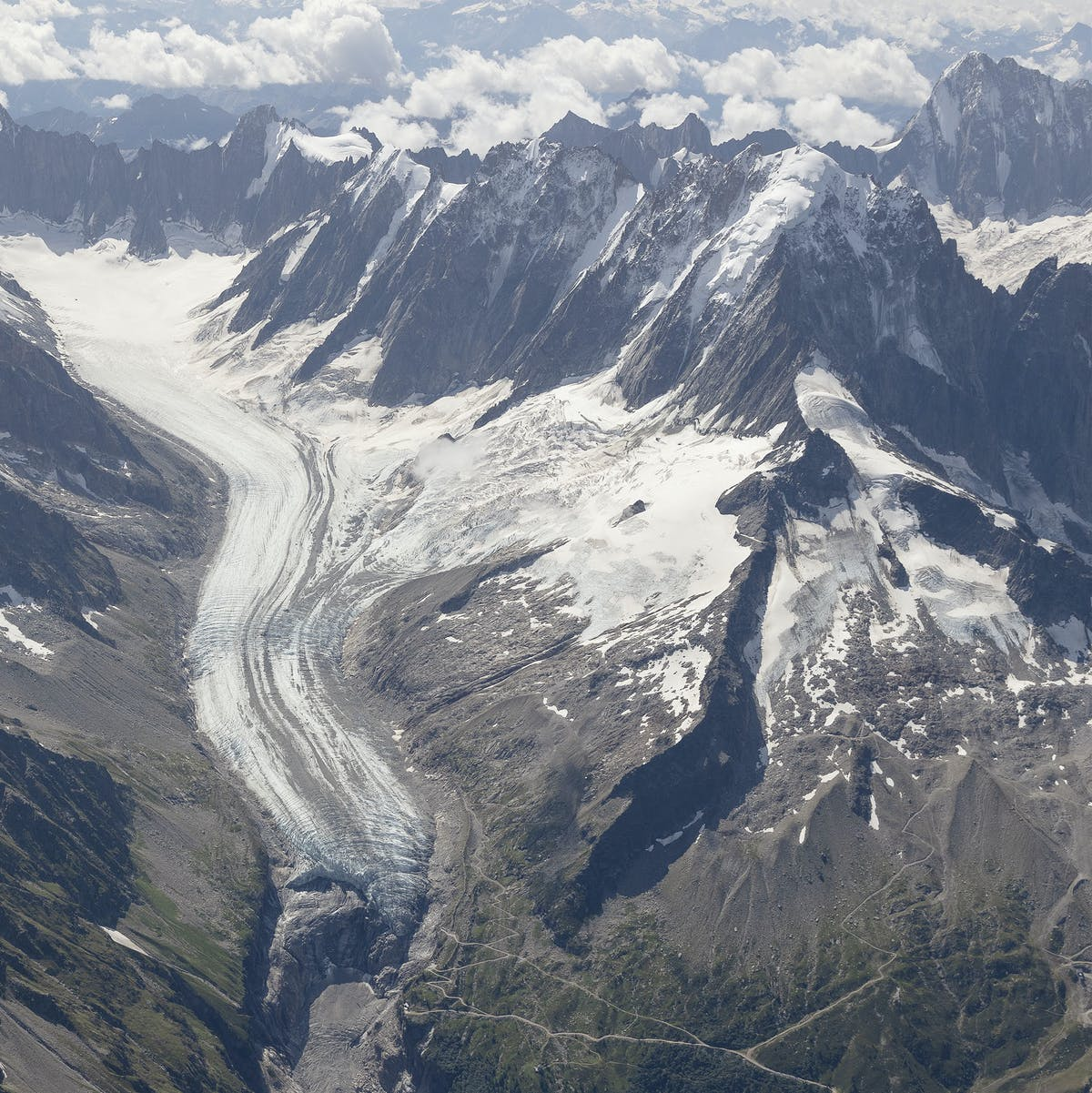 Glacier photos taken 100 years apart show the severity of climate change