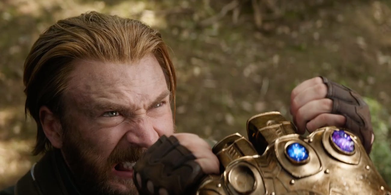 Steve Rogers faces off against Thanos in Wakanda.