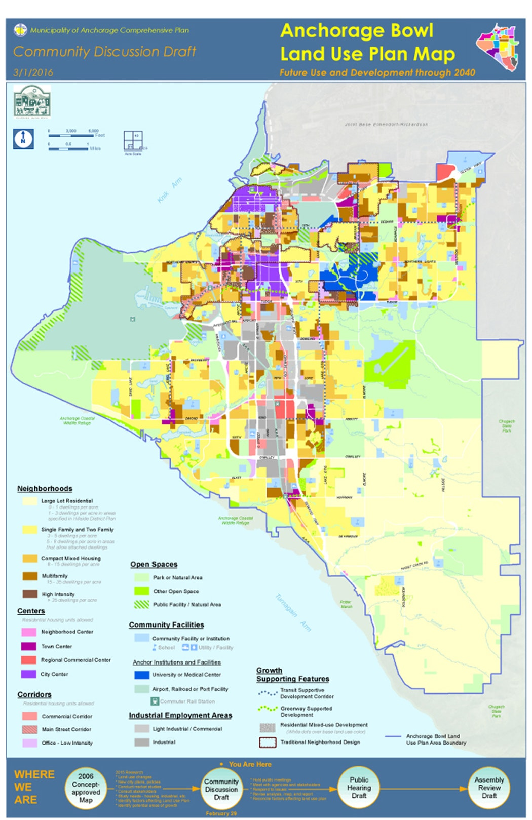 Anchorage's new land use plan map