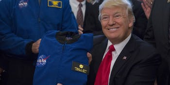 Donald Trump, NASA