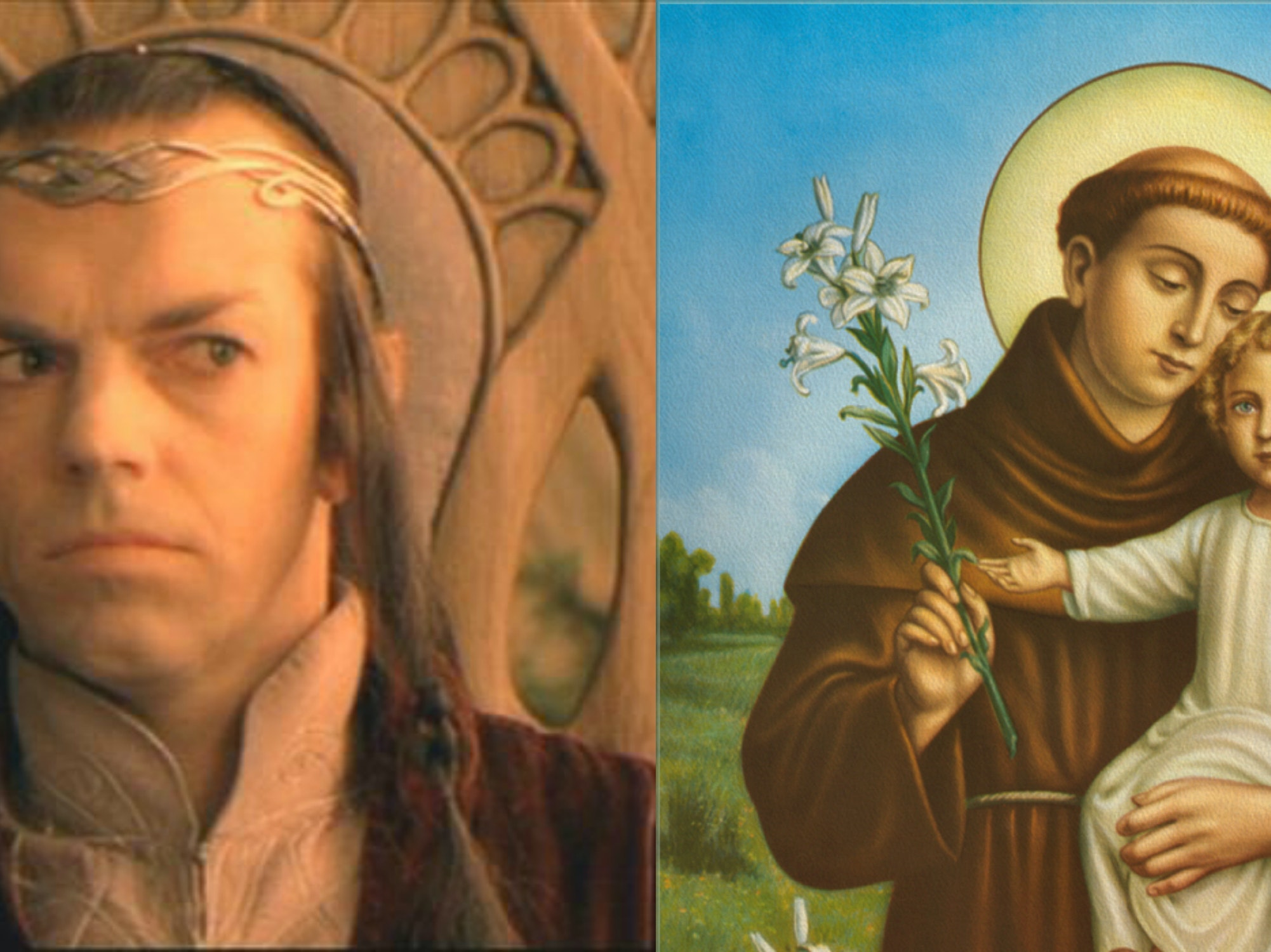 Elf Lord Elrond from 'Lord of the Rings' Mistaken for a Saint