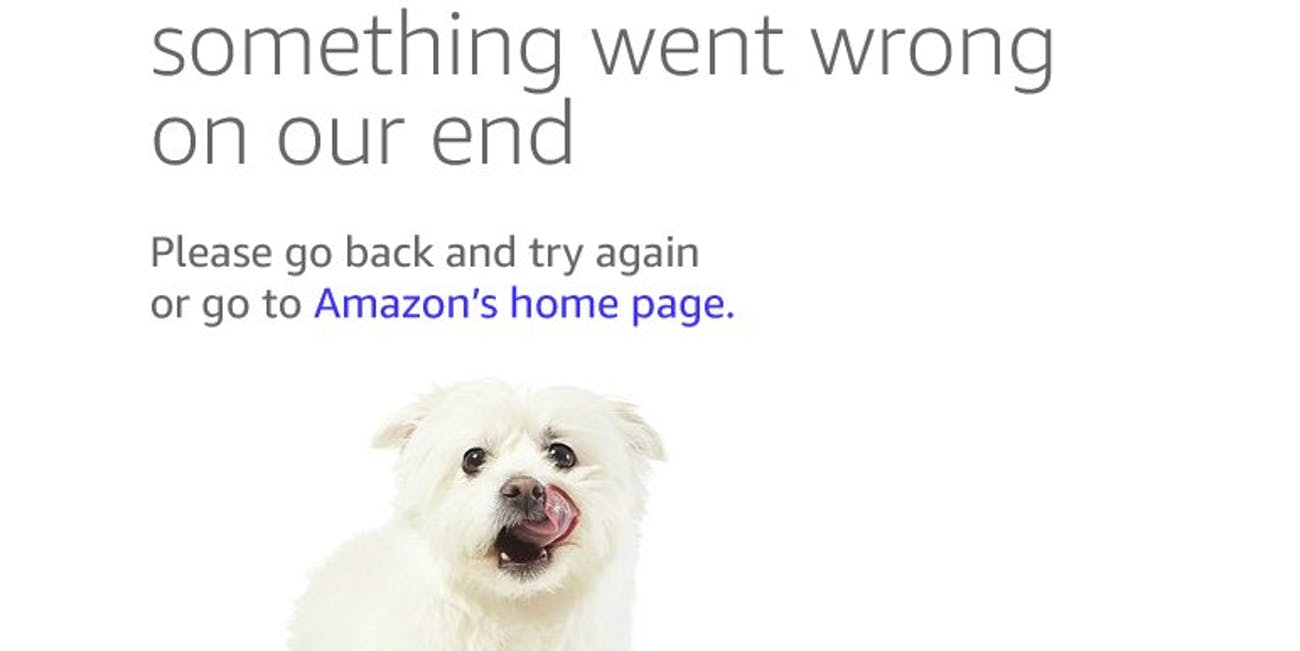 Amazon Prime Day error page dogs