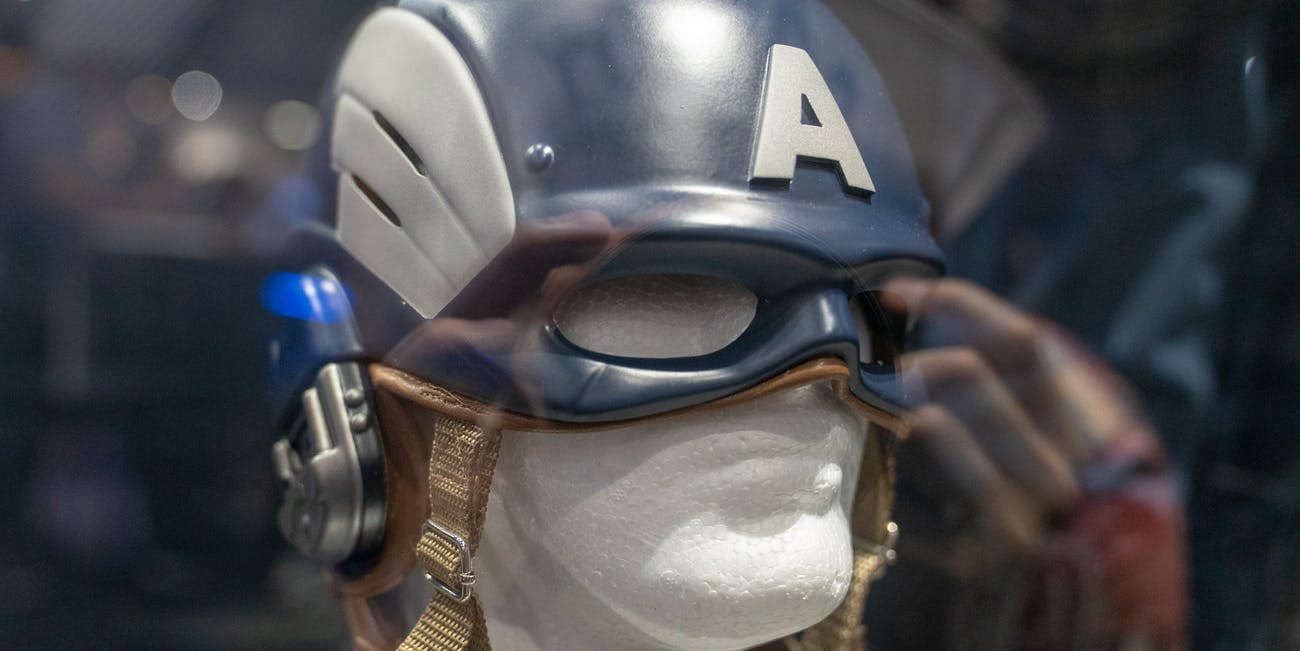 Captain America's helmet in 'Marvel's Avengers'
