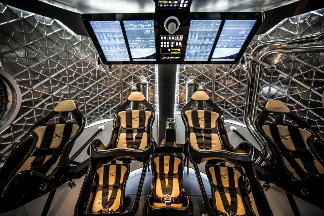 These seats on SpaceX's Dragon 2 can belong to Migos if they keep up their tech dominance.