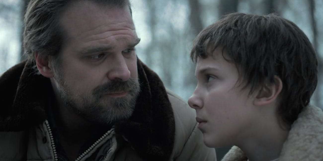 Hopper and Eleven in 'Stranger Things 3'.