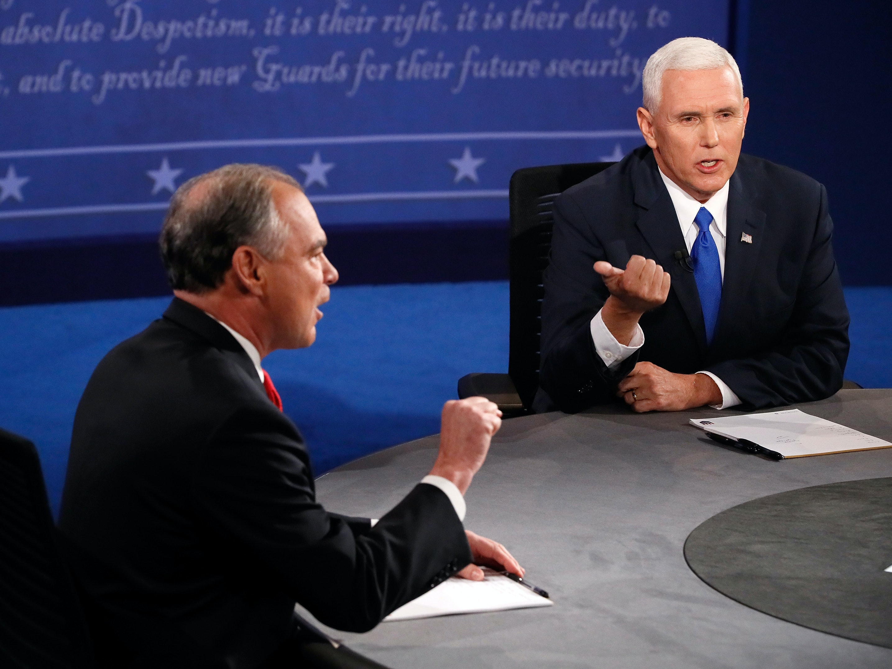 Mike Pence Brings Up Cyber War, Pivots to Clinton's Emails