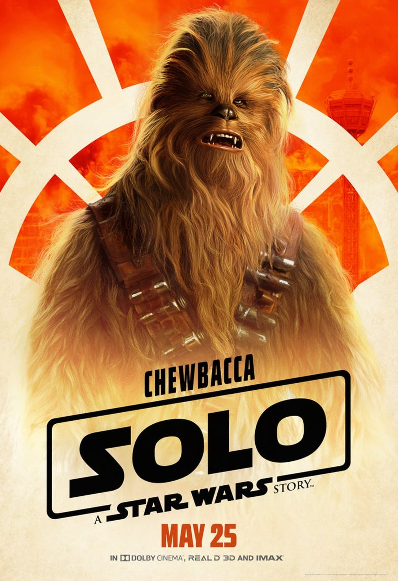 Joonas Suotamo as Chewbacca in 'Solo: A Star Wars Story'.