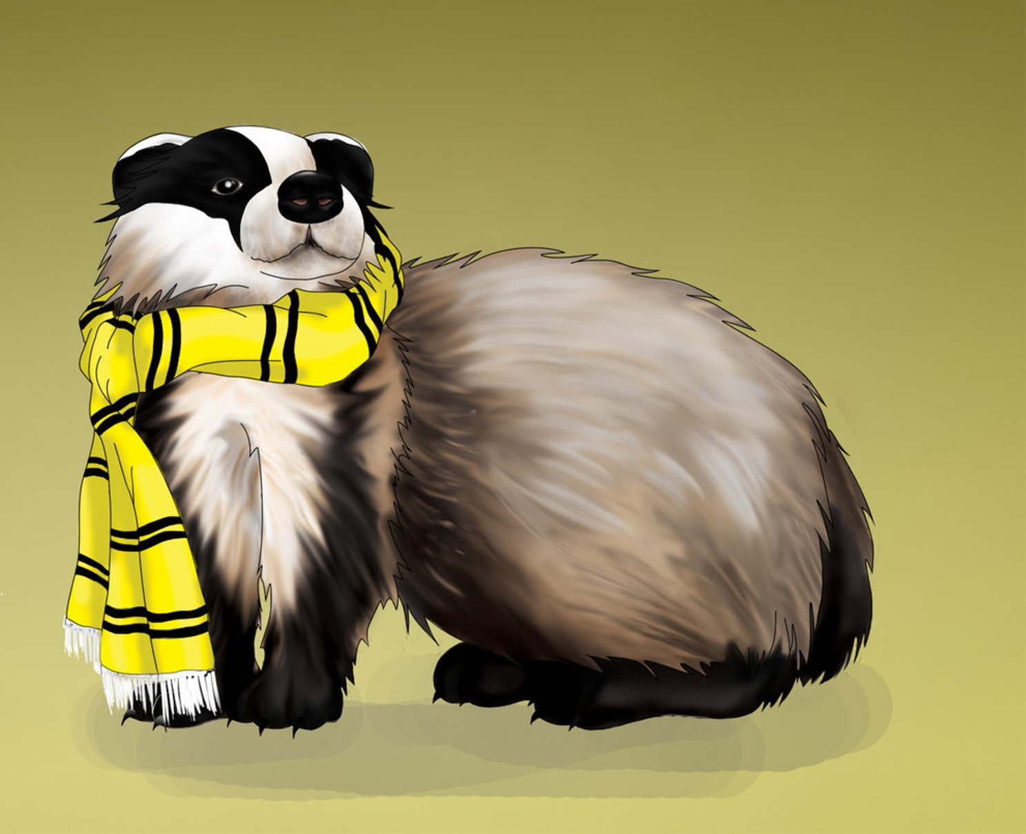 A noble, scarfed badger
