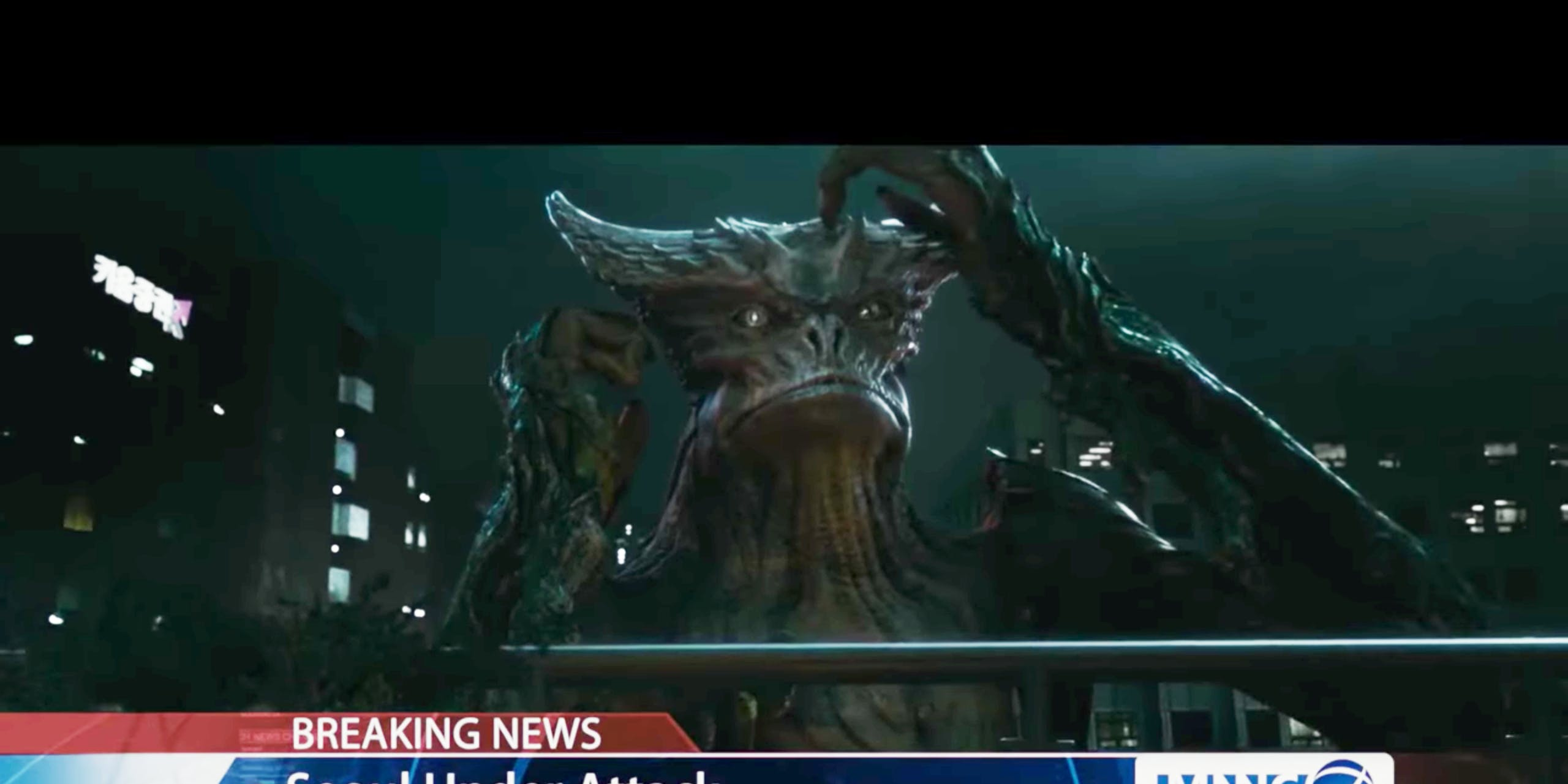 A shot of the monster in 'Colossal'