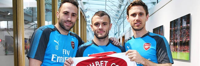 Cashbet Coin: Arsenal players David Opsina, Jack Wilshere, and Nacho Monreal