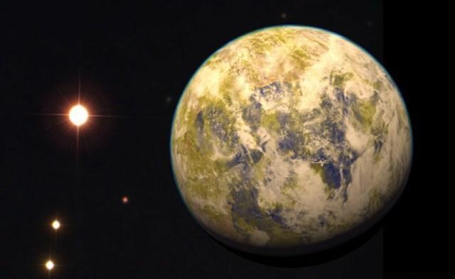 Artist's depiction of Gliese 832c