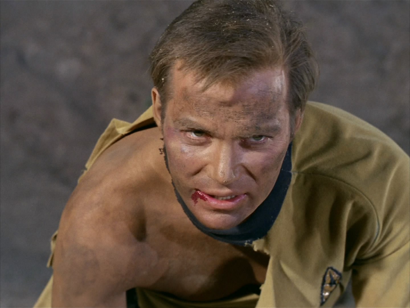 Kirk loves beating up robots who look like people he knows.