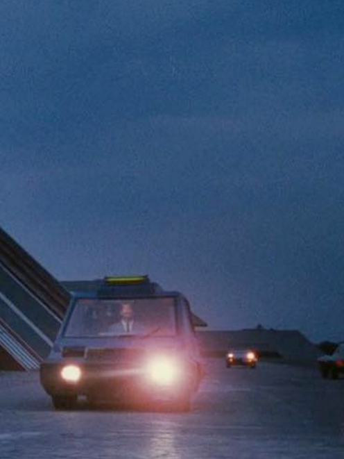 Kanye West's first-ever Instagram post was this shot from the science fiction movie 'Total Recall'.