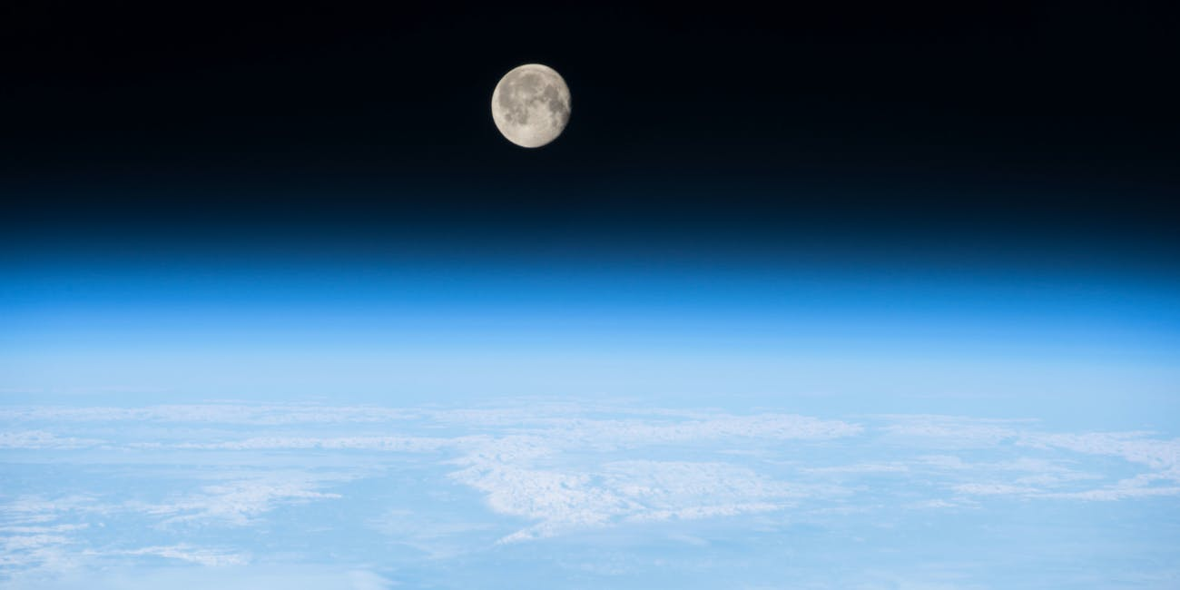NASA Earth Moon Atmosphere.