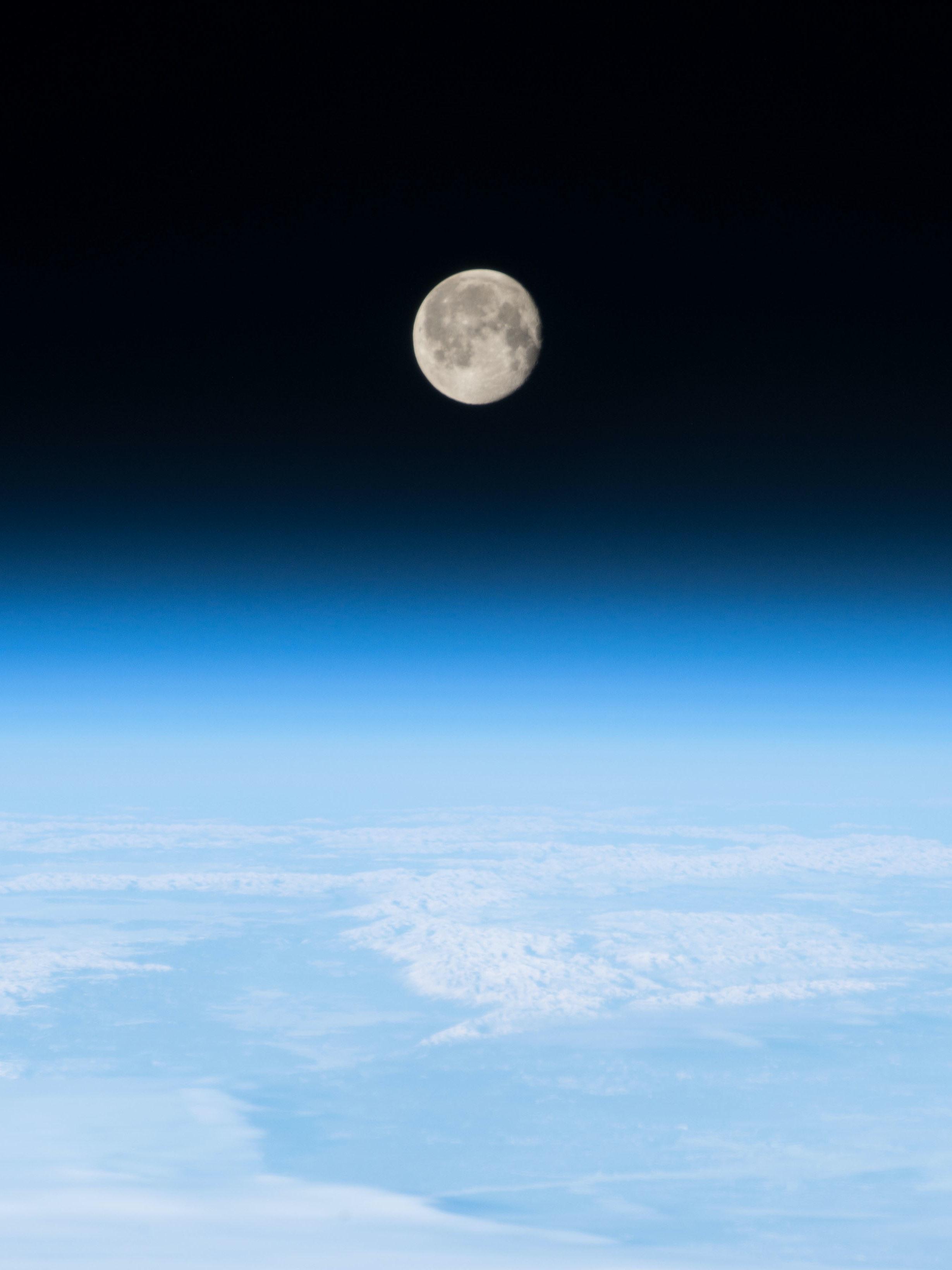 NASA Earth Moon Atmosphere.