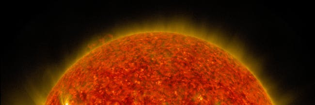 NASA's SDO Sees a Solar Flare and a Lunar Transit