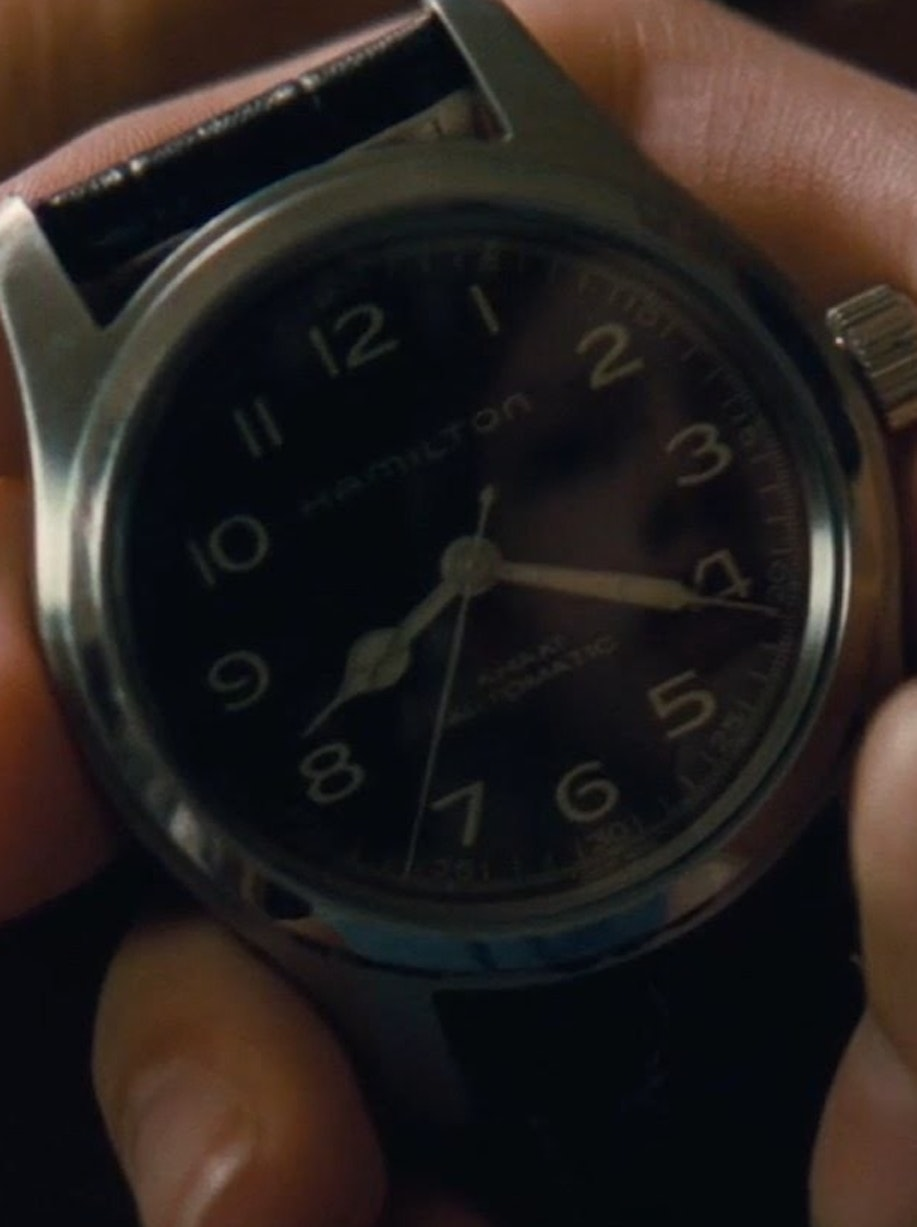 Pretty solid Hamilton Watch product placement in Interstellar.