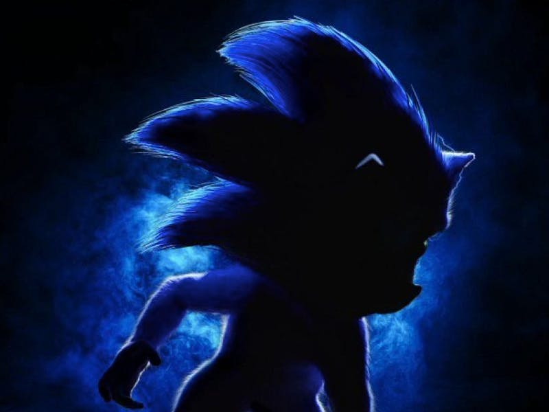 sonic movie poster furry
