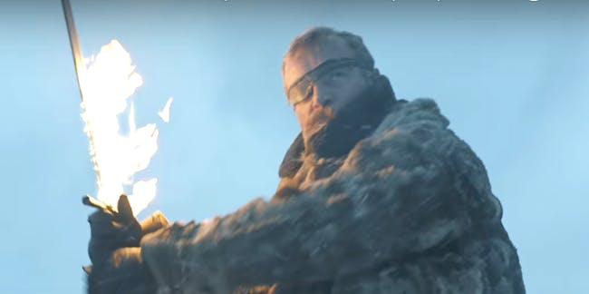Richard Dormer as Beric Dondarrion in 'Game of Thrones' Season 7 episode 6, 'Beyond the Wall'