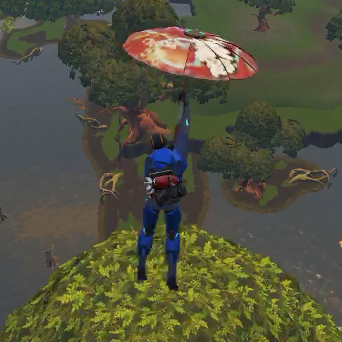 fortnite challenge location bench ice cream truck and helicopter - fortnite between a bench ice cream truck and helicopter
