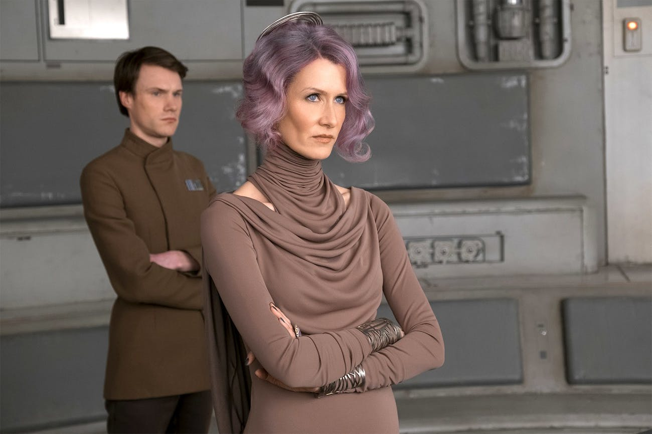 Laura Dern as Vice Admiral Amilyn Holdo in 'Star Wars: The Last Jedi'.