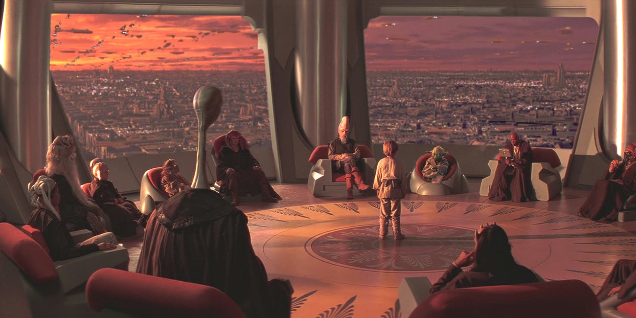 The Jedi Council in 'Star Wars: The Phantom Menace'