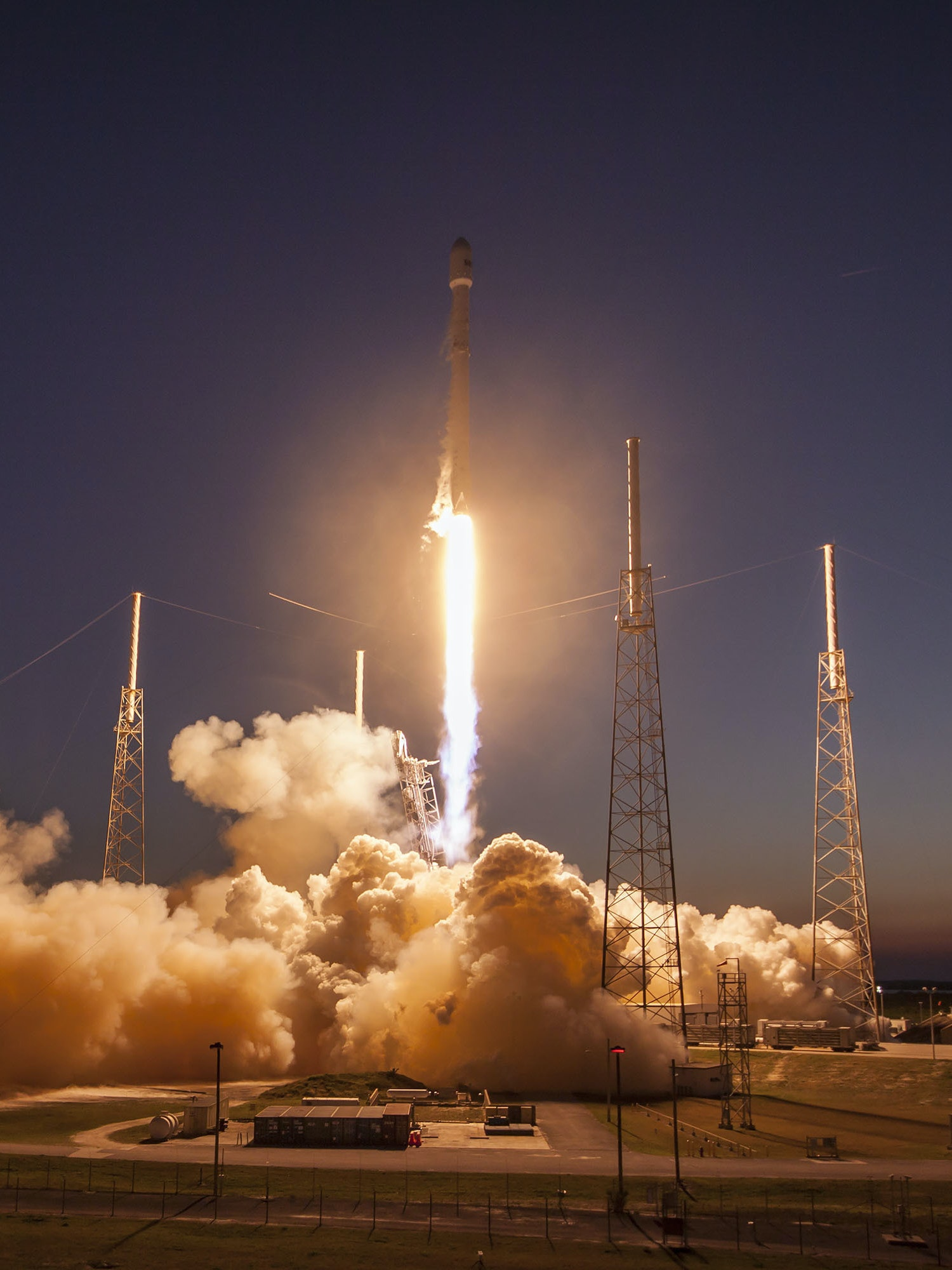 CAPE CANAVERAL, FL - MARCH 4: In this handout provided by the National Aeronautics and Space Administration (NASA), SpaceX's Falcon 9 rocket makes a successful launch with the SES-9 communications satellite on March 4, 2016 in Cape Canaveral, Florida. (Photo by NASA via Getty Images)