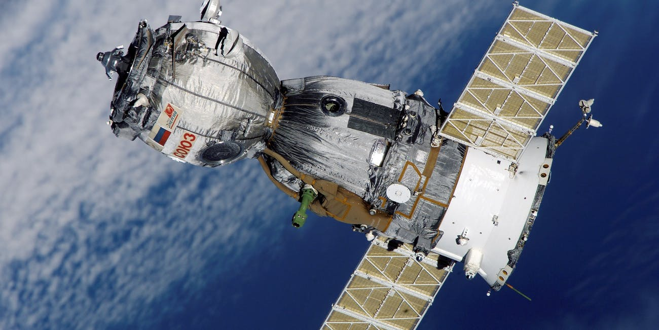 The Russian-government made Soyuz vehicle which is carried into space on the Soyuz rocket.