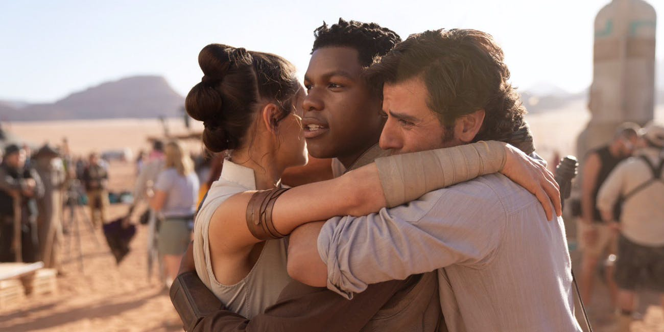 John Boyega, Daisy Ridley and Oscar Isaac in 'Star Wars: Episode IX'